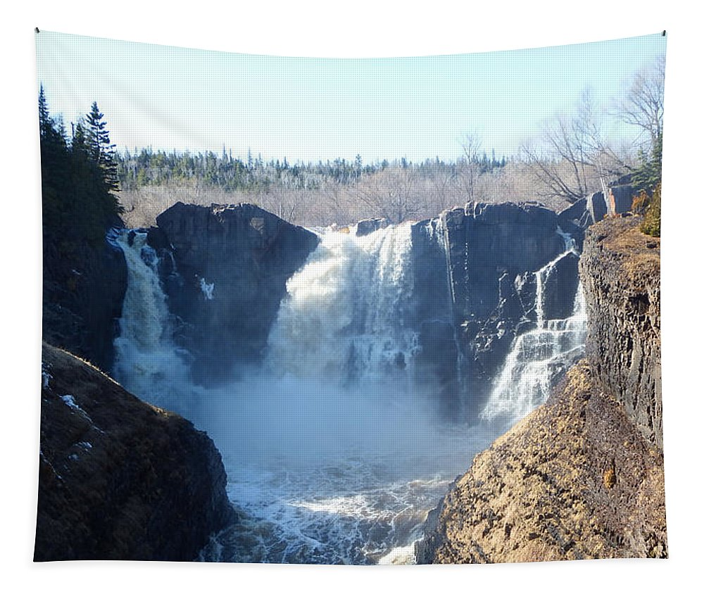 Waterfalls Tapestry featuring the photograph High Falls by Alison Gimpel