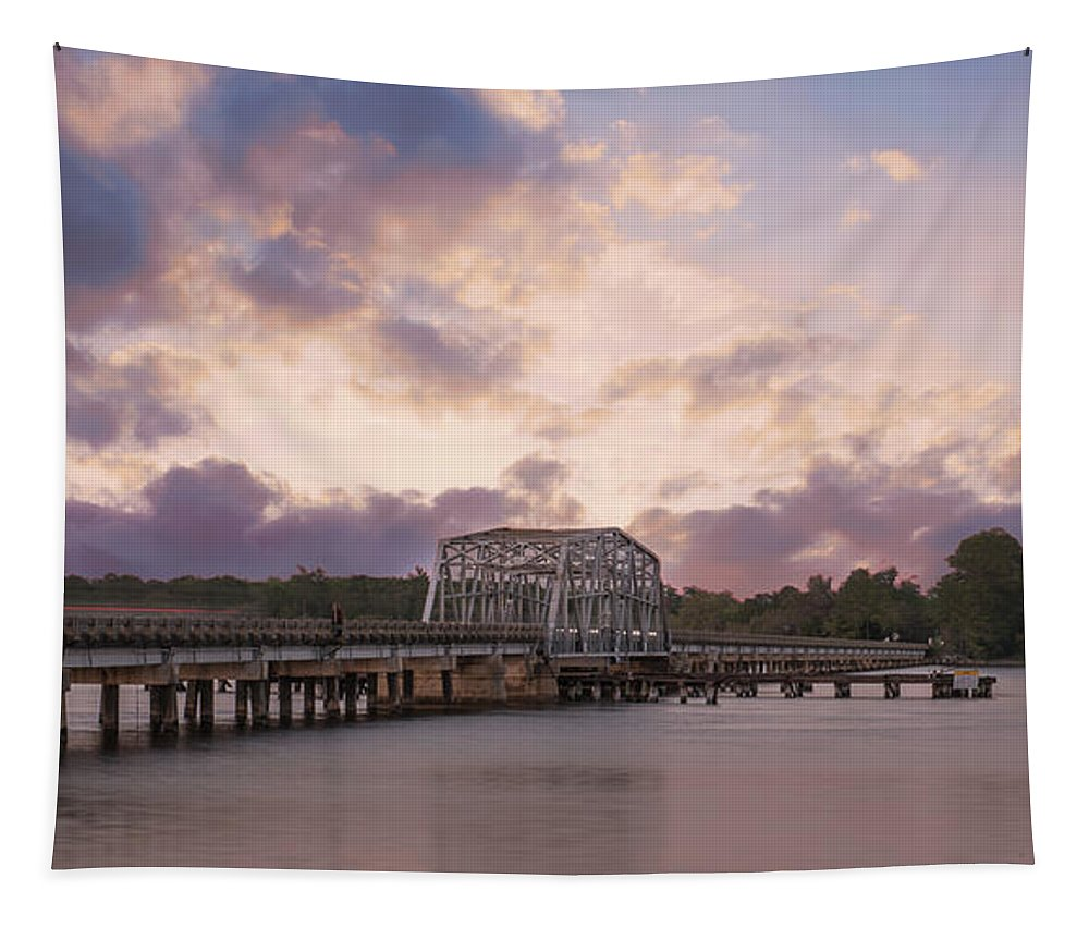 Wando River Tapestry featuring the photograph Highway 41 Swing Bridge by Dale Powell