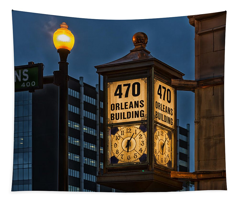 Beaumont Tapestry featuring the photograph Historic Clock - Beaumont Texas by Mountain Dreams