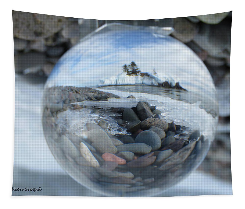 Crystal Ball Tapestry featuring the photograph Hollow Rock by Alison Gimpel