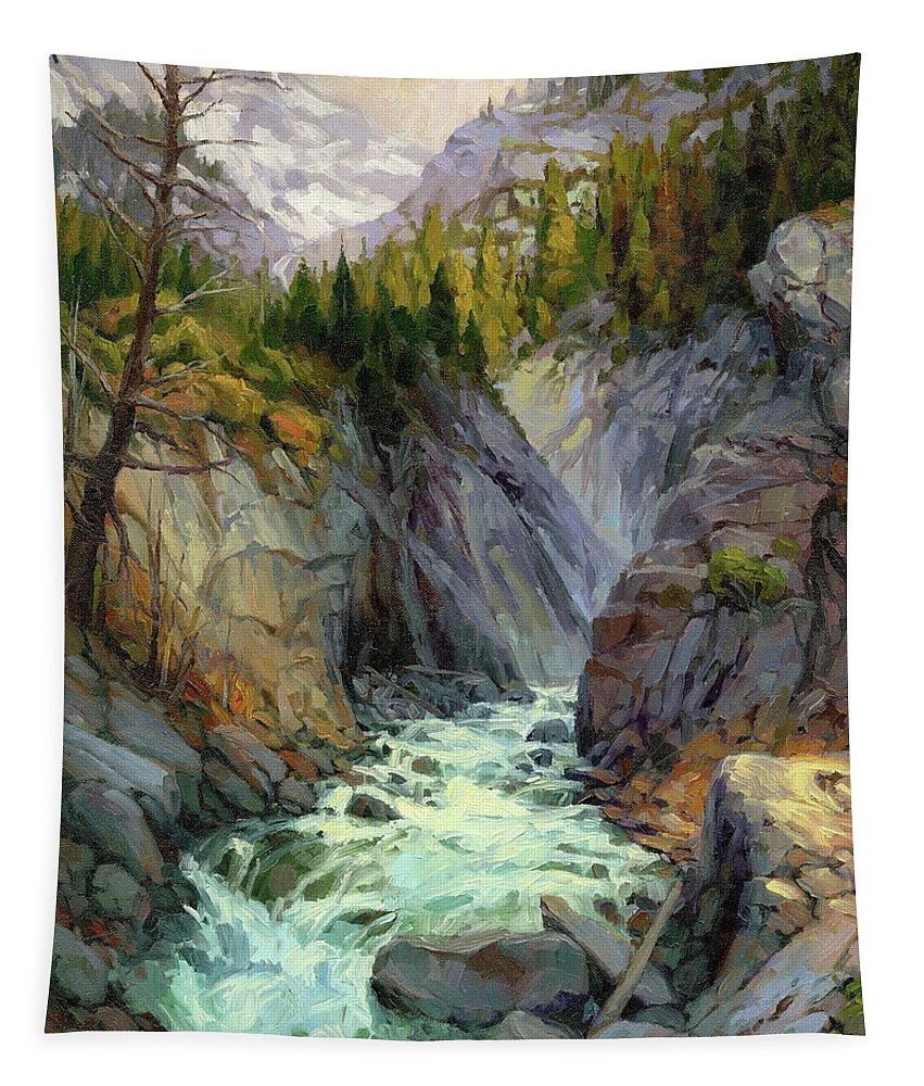River Tapestry featuring the painting Hurricane River by Steve Henderson