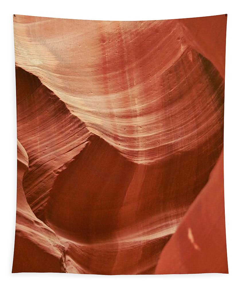 Antelope Canyon Tapestry featuring the photograph Impressions Of Antelope Canyon 1 by Mo Barton