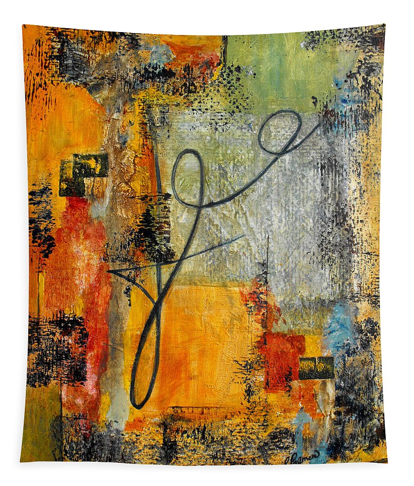 Abstract Tapestry featuring the painting Invitation To Dance by Ruth Palmer