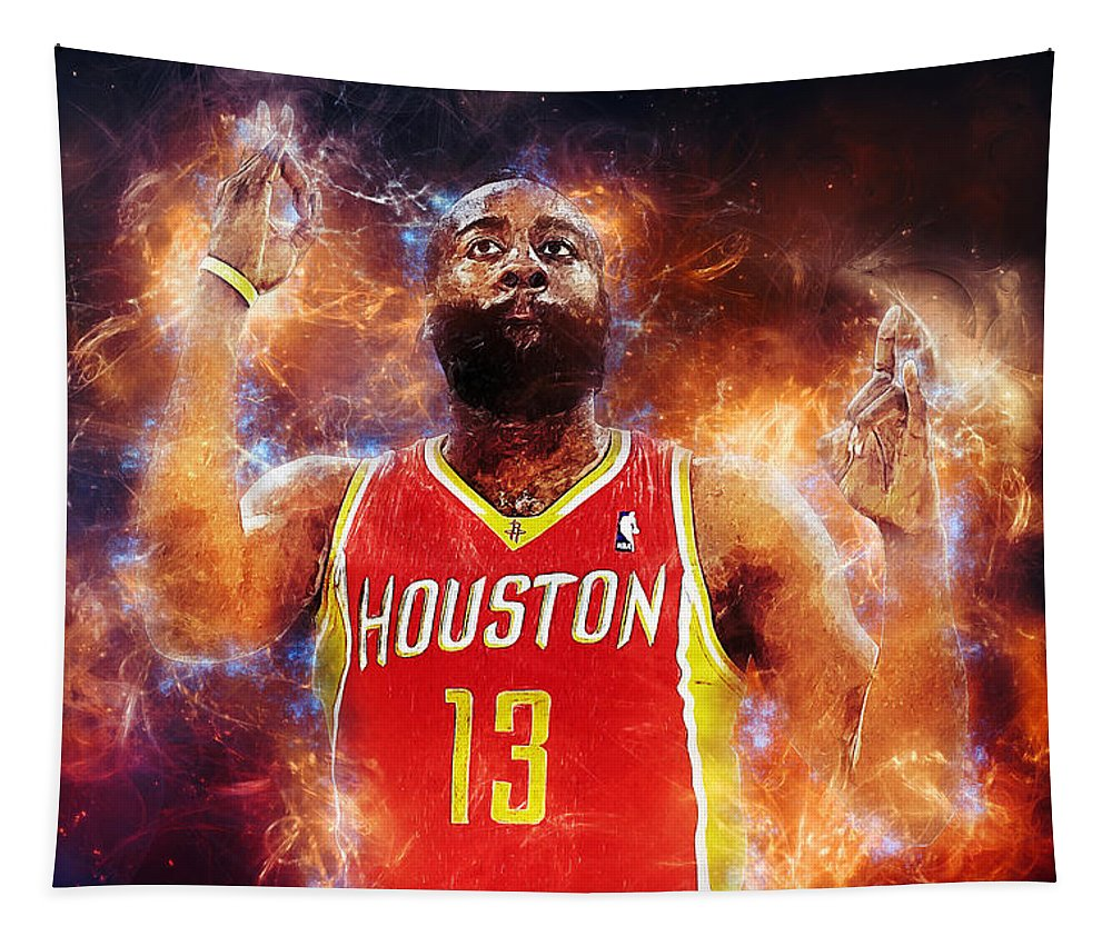 James Harden Tapestry featuring the digital art James Harden by Zapista OU