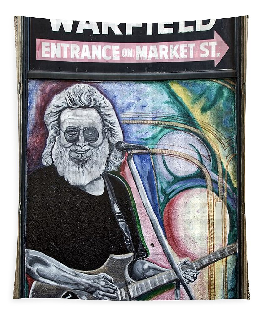 Jerry Garcia Tapestry featuring the photograph Jerry Garcia - San Francisco by Mountain Dreams