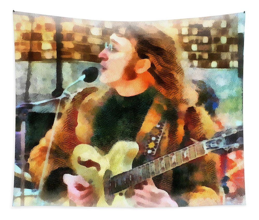 John Lennon Poster Tapestry featuring the photograph John Lennon by Sergey Lukashin