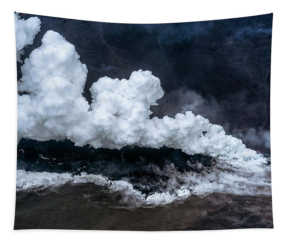 Kapoho Tapestry featuring the photograph Kapoho Ocean Entry by Christopher Johnson