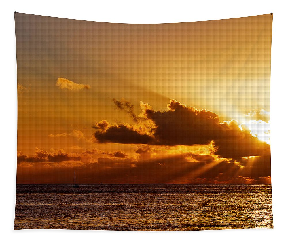 Sunrise Tapestry featuring the photograph Key West Sunrise 21 by Bob Slitzan