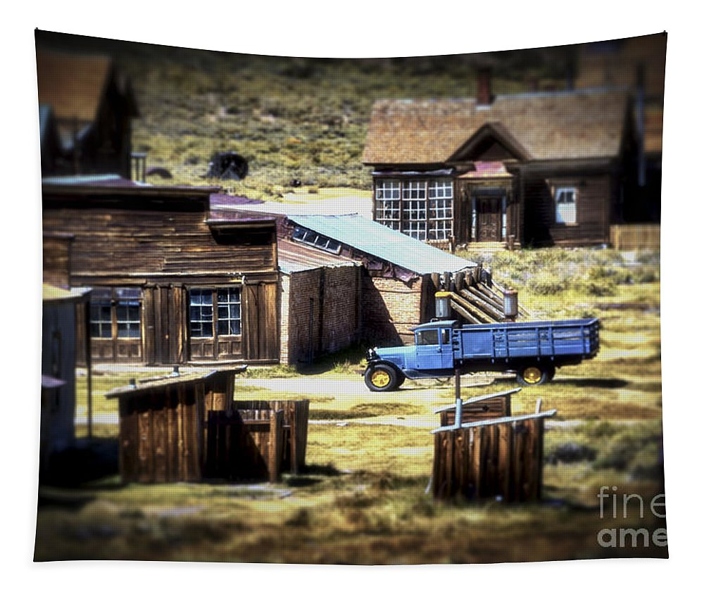 Bodie California Tapestry featuring the photograph Looking Back by Mitch Shindelbower