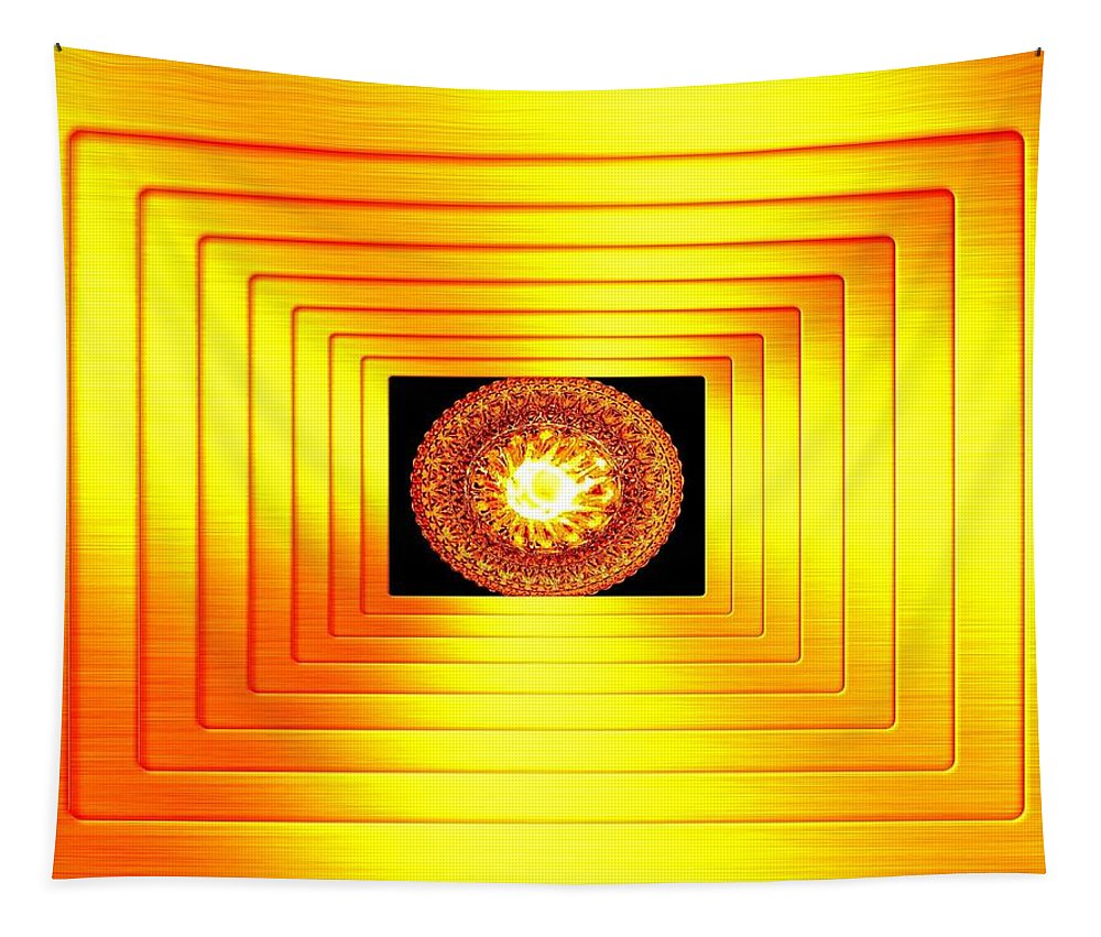 Abstract Tapestry featuring the digital art Luminous Energy 7 by Will Borden