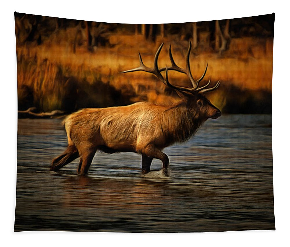 Autumn Tapestry featuring the digital art Madison Bull by Mark Kiver