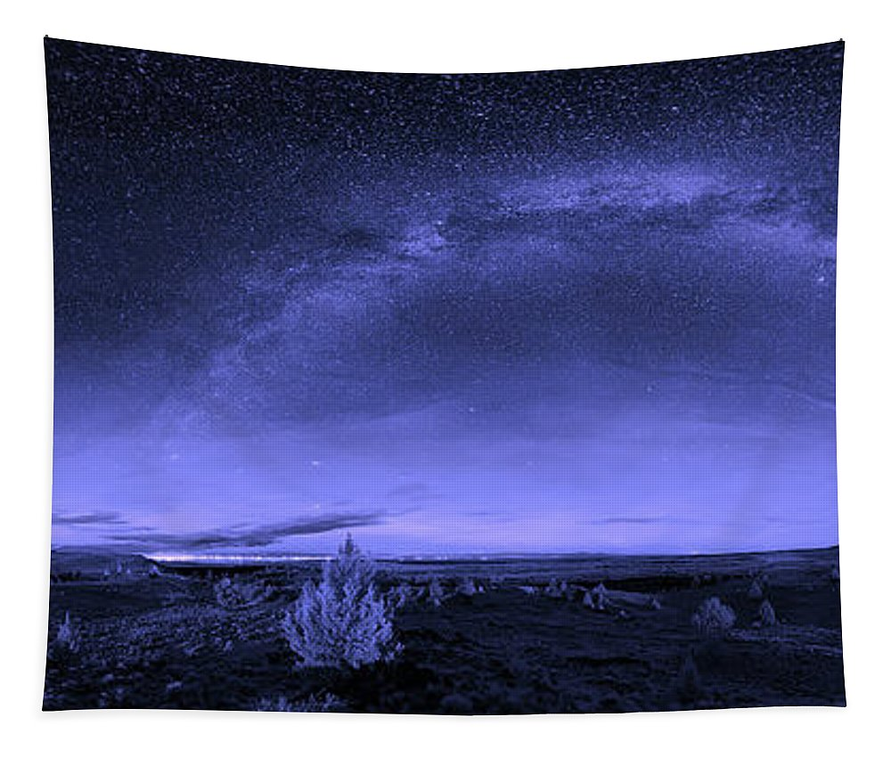 Lava Bed National Monument Tapestry featuring the photograph Milky Way Heaven by Nps