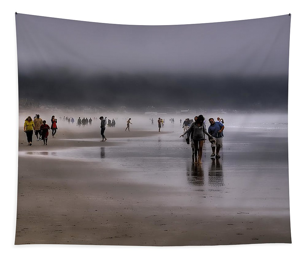 Mist Tapestry featuring the photograph Misty Beach by David Patterson