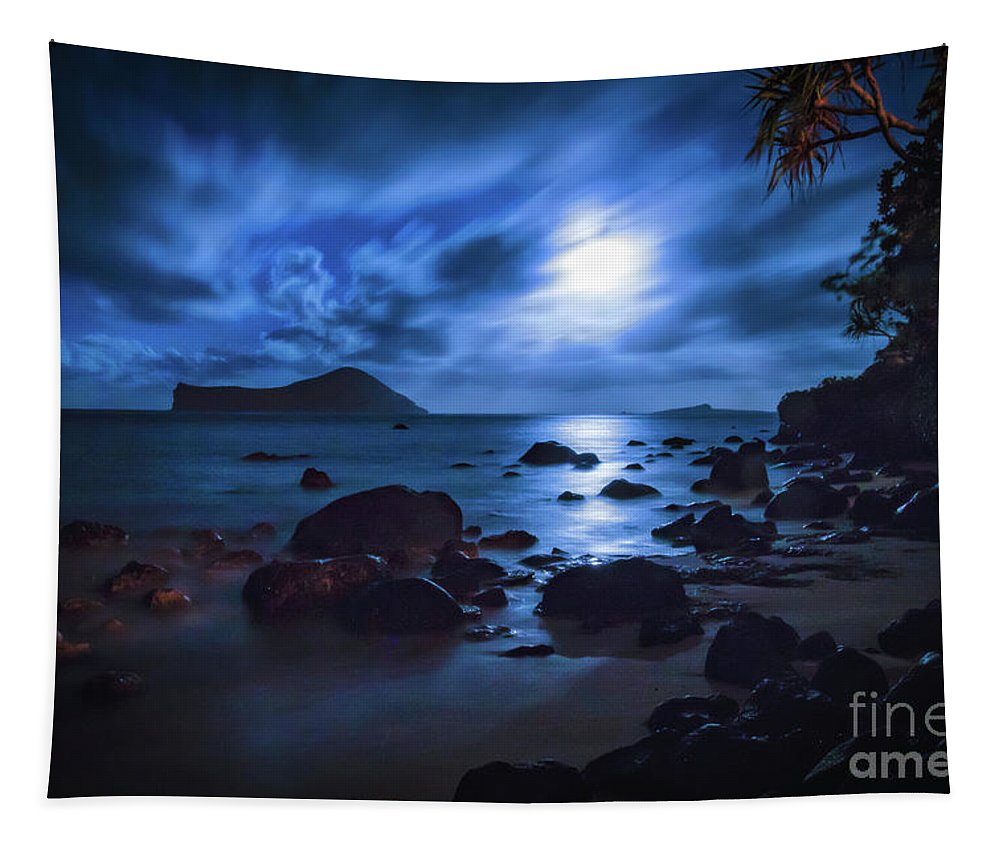 Moon Glow Tapestry featuring the photograph Moon Glow by Mitch Shindelbower