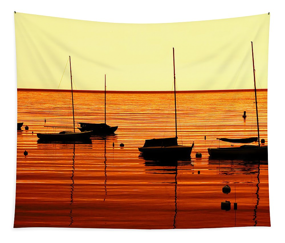 Sailboats Tapestry featuring the photograph Morning Over Rockport by Todd Klassy