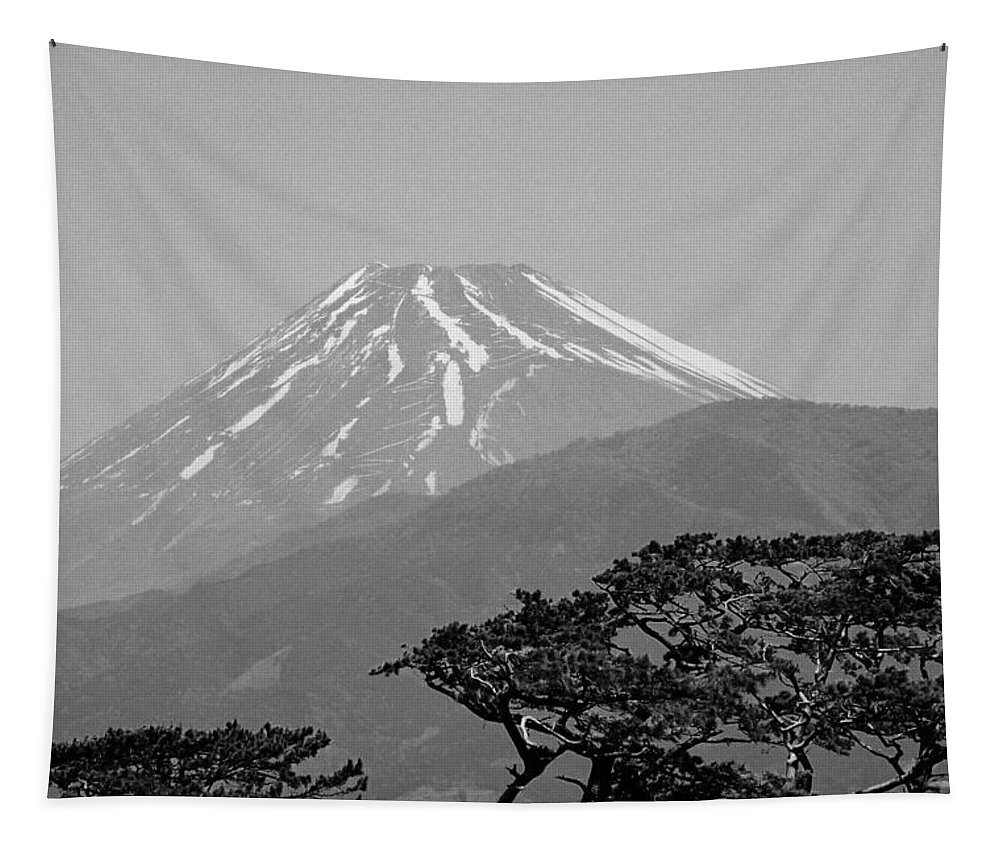 Asia Tapestry featuring the photograph Mt. Fuji by Juergen Weiss