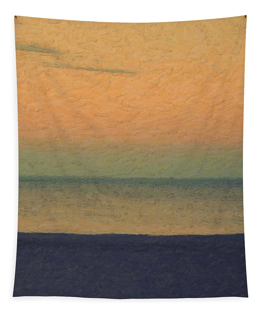 �not Quite Rothko� Collection By Serge Averbukh Tapestry featuring the photograph Not quite Rothko - Breezy Twilight by Serge Averbukh