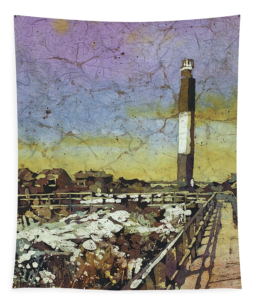 Art For House Tapestry featuring the painting Oak Island Lighthouse by Ryan Fox