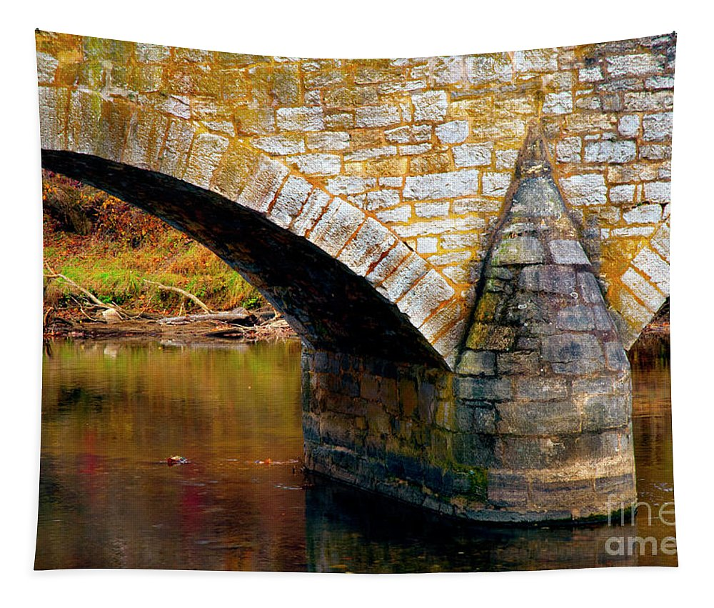 Antietam Tapestry featuring the photograph Old Stone Bridge by Paul W Faust - Impressions of Light