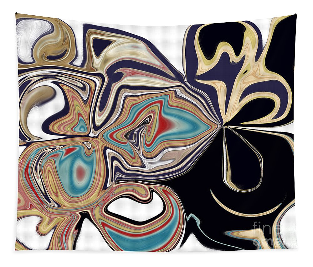 Black Tapestry featuring the digital art On The Wild Side by Debra Lynch