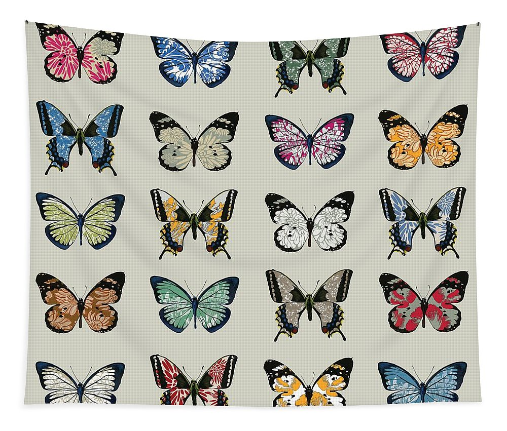 Butterfly Tapestry featuring the digital art Papillon by Sarah Hough