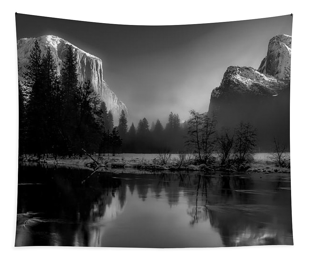 Yellowstone National Park Tapestry featuring the photograph Peace In The Valley by Adam Jaime
