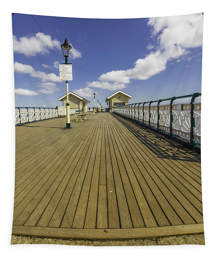 Penarth Pier Tapestry featuring the photograph Penarth Pier 7 by Steve Purnell