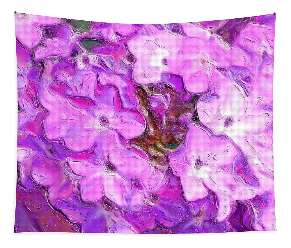 Digital Photography Tapestry featuring the digital art Phlox Fantasy by David Lane