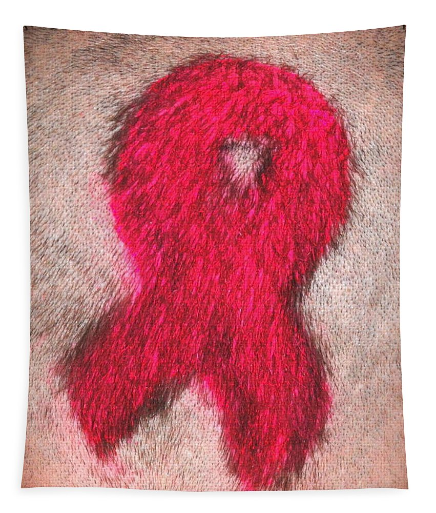 Pink. Ribbon. Breast Cancer Tapestry featuring the photograph Pink by Richard Bryce and Family