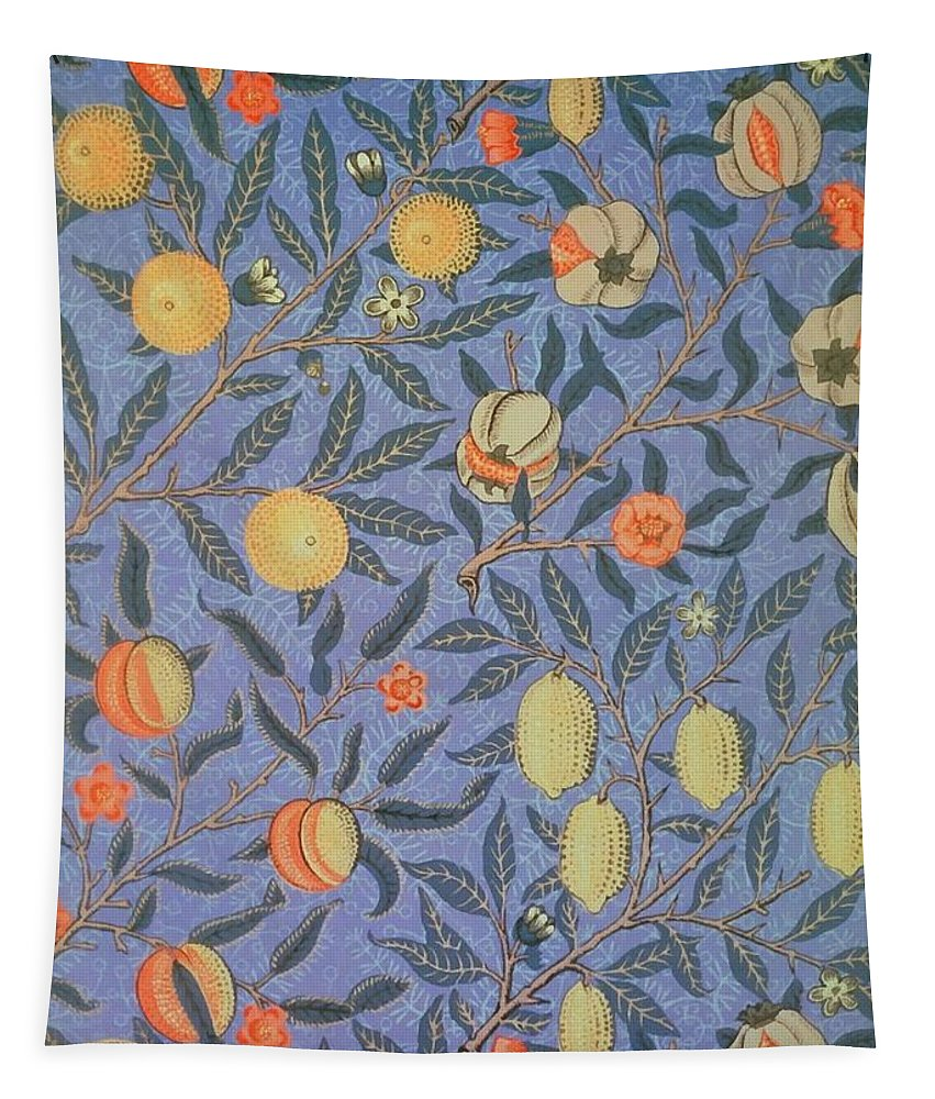 Artistic Tapestry featuring the painting Pomegranate by William Morris