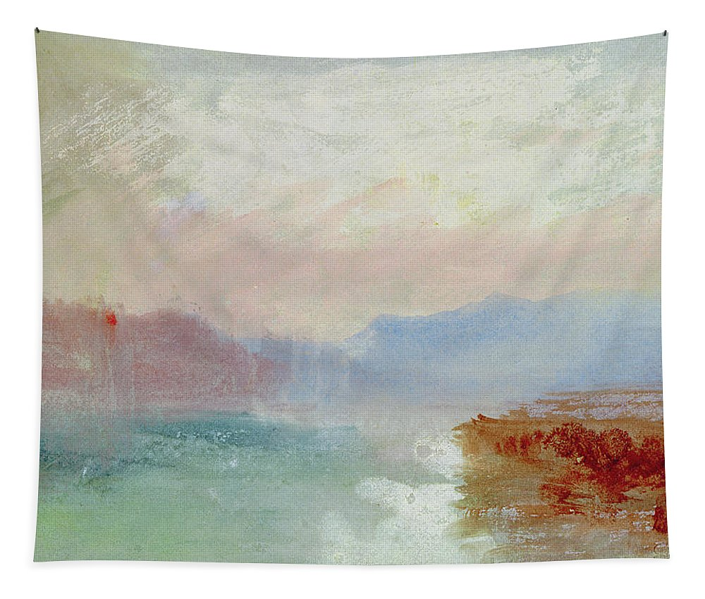 River Scene Tapestry featuring the painting River Scene by Joseph Mallord William Turner