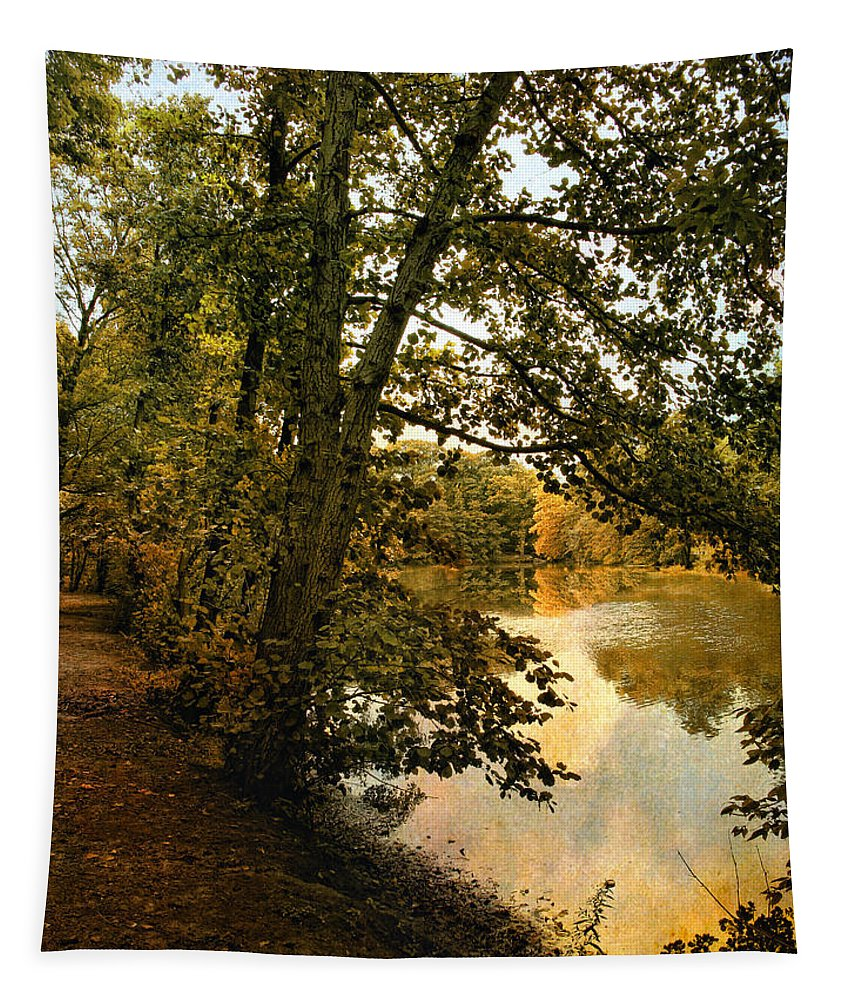 Nature Tapestry featuring the photograph Riverside Reflections by Jessica Jenney