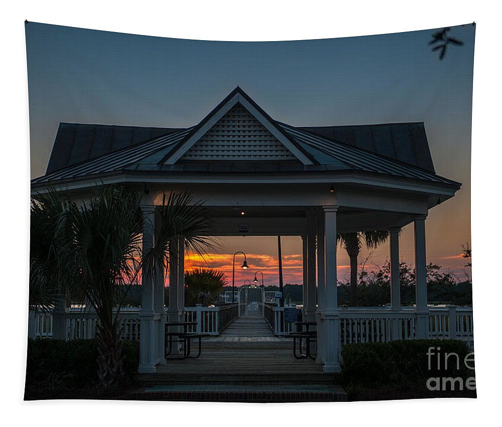 Rivertowne On The Wando Tapestry featuring the photograph Rivertowne Gazebo by Dale Powell