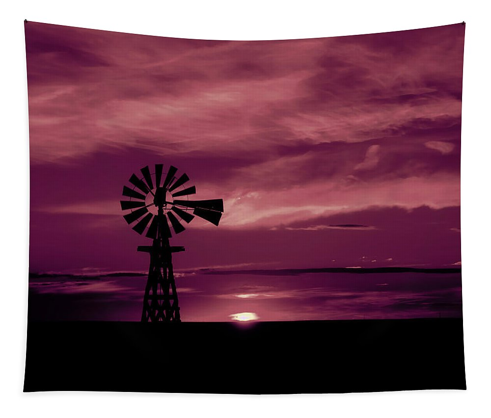 Rustic Tapestry featuring the photograph Rustic Sunset - Colorado by Mountain Dreams