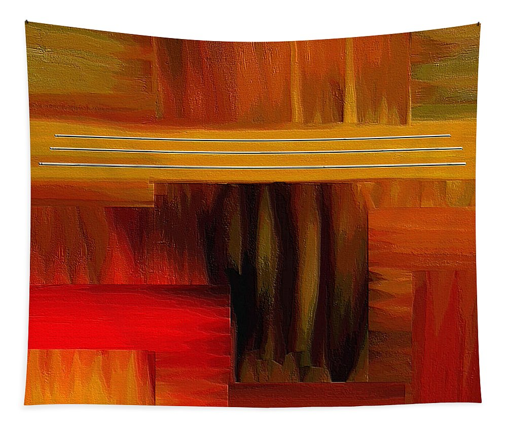 Abstract Art Tapestry featuring the painting Sanctuary by Ely Arsha