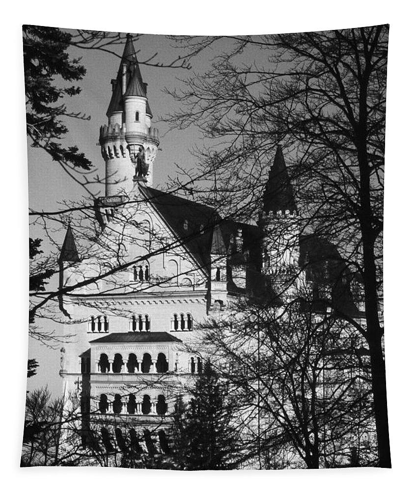 Europe Tapestry featuring the photograph Schloss Neuschwanstein by Juergen Weiss