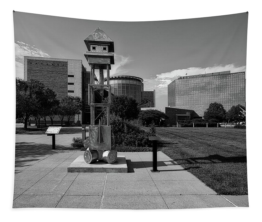 Sioux City Tapestry featuring the photograph Sculpt Siouxland - Sioux City by Mountain Dreams