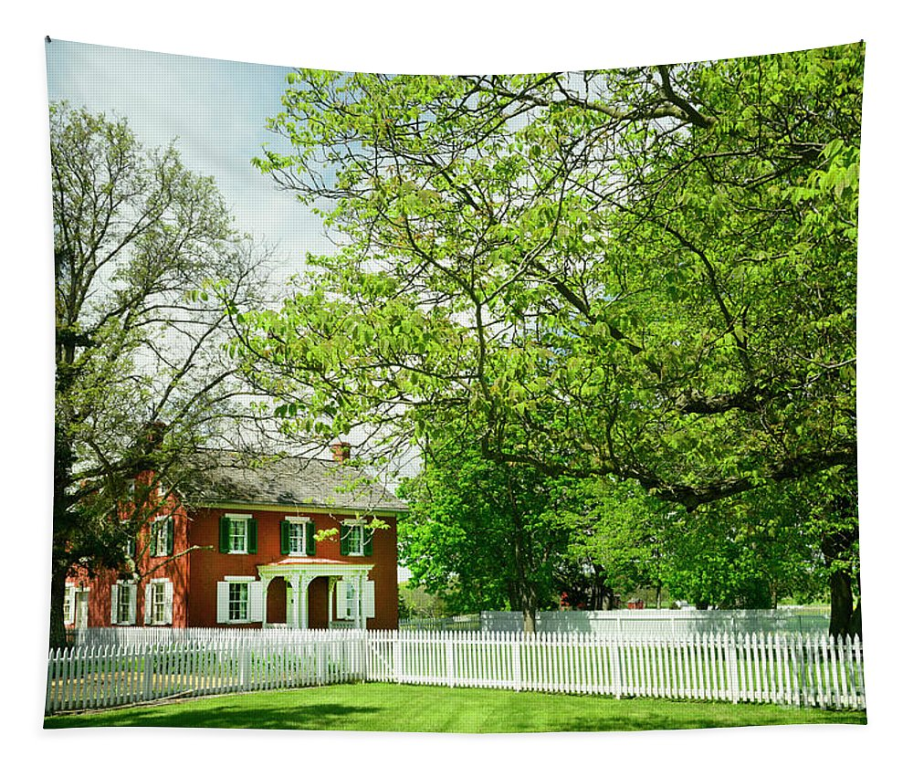 Sherfy Tapestry featuring the photograph Sherfy House - Civil War Survivor by Paul W Faust - Impressions of Light