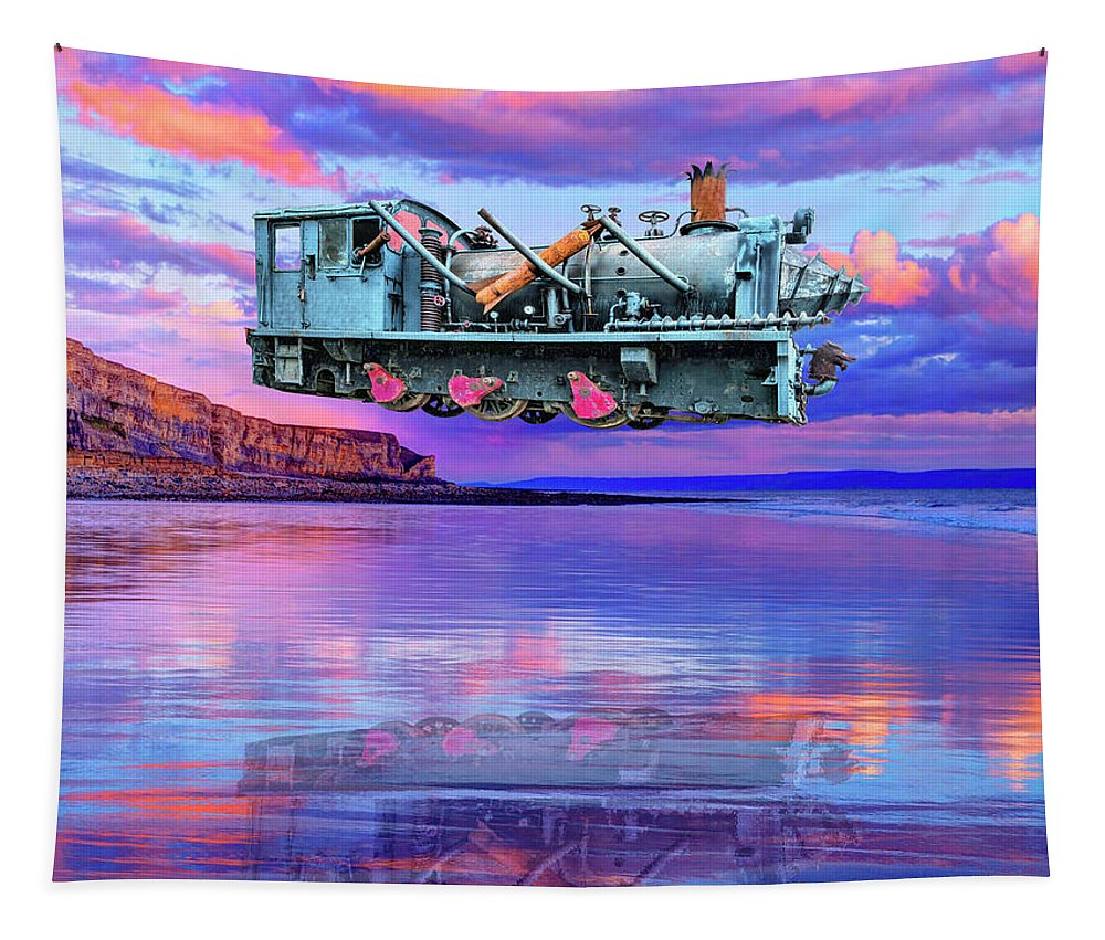 Beach Tapestry featuring the photograph Silent Running by Dominic Piperata