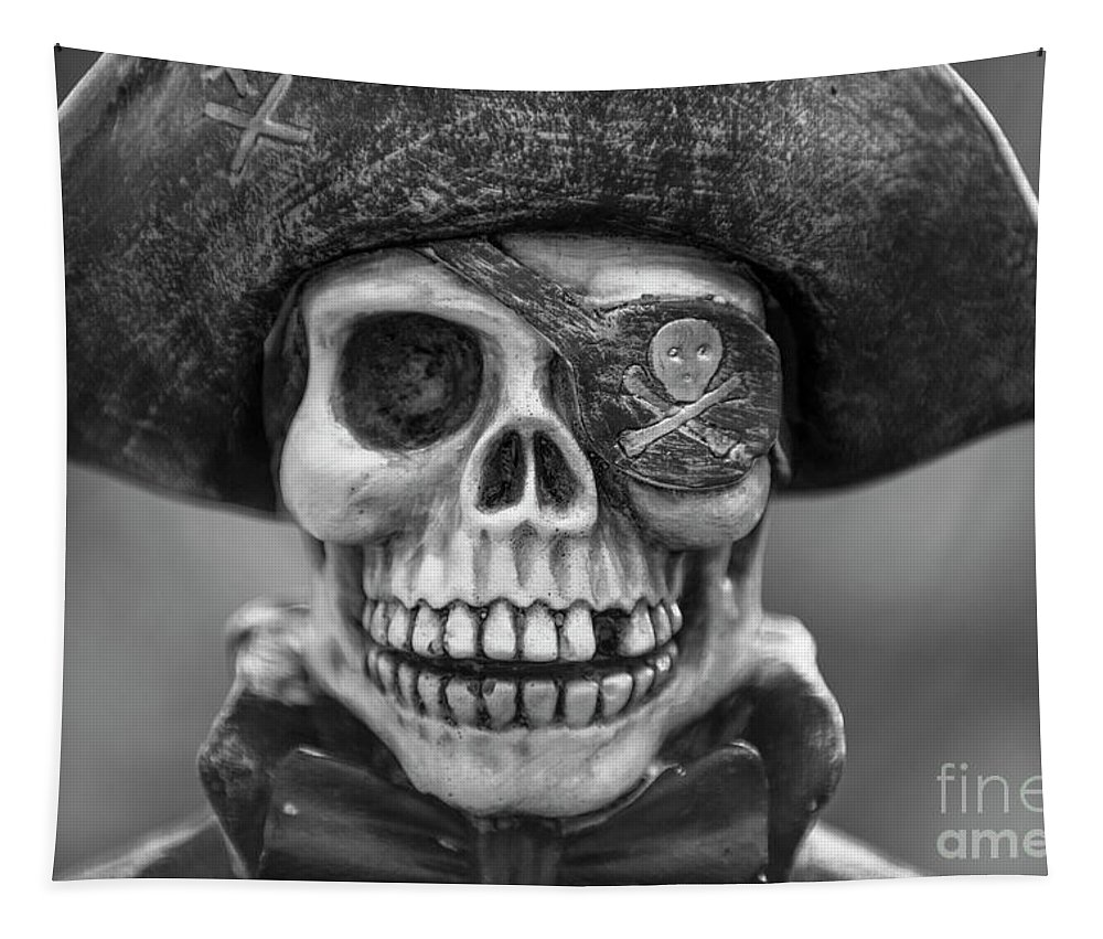 Skeleton Tapestry featuring the photograph Skull And Bones by Dale Powell
