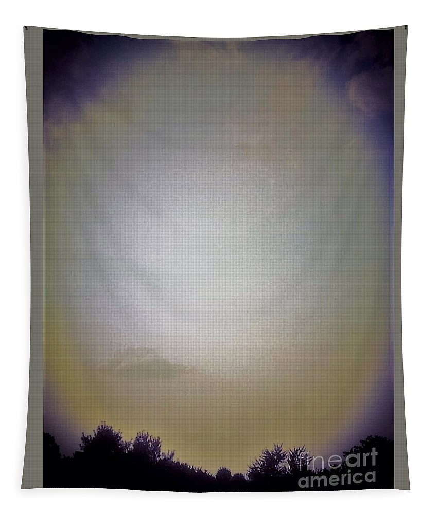 Sky Tapestry featuring the photograph Sky And Trees by Debra Lynch