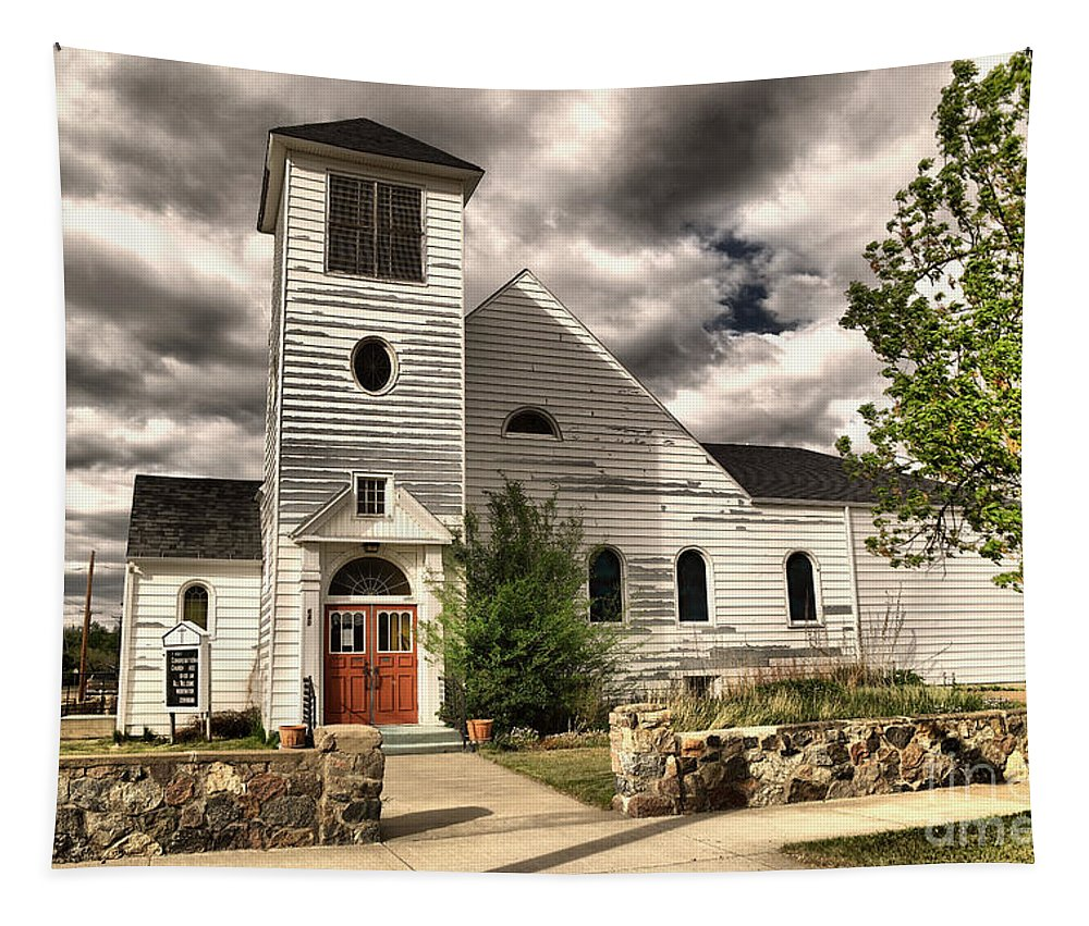 Church Tapestry featuring the photograph Small Town Church by Jeff Swan
