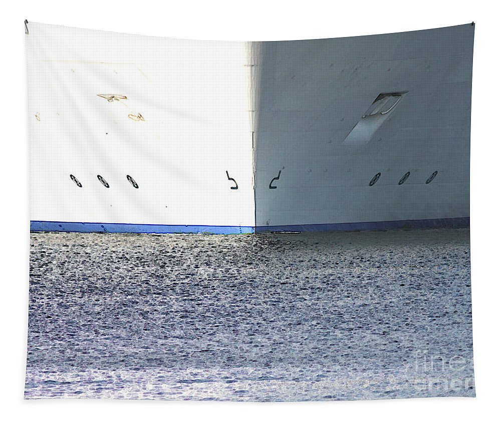 Ship Tapestry featuring the photograph Smooth Sailing by Carol Groenen