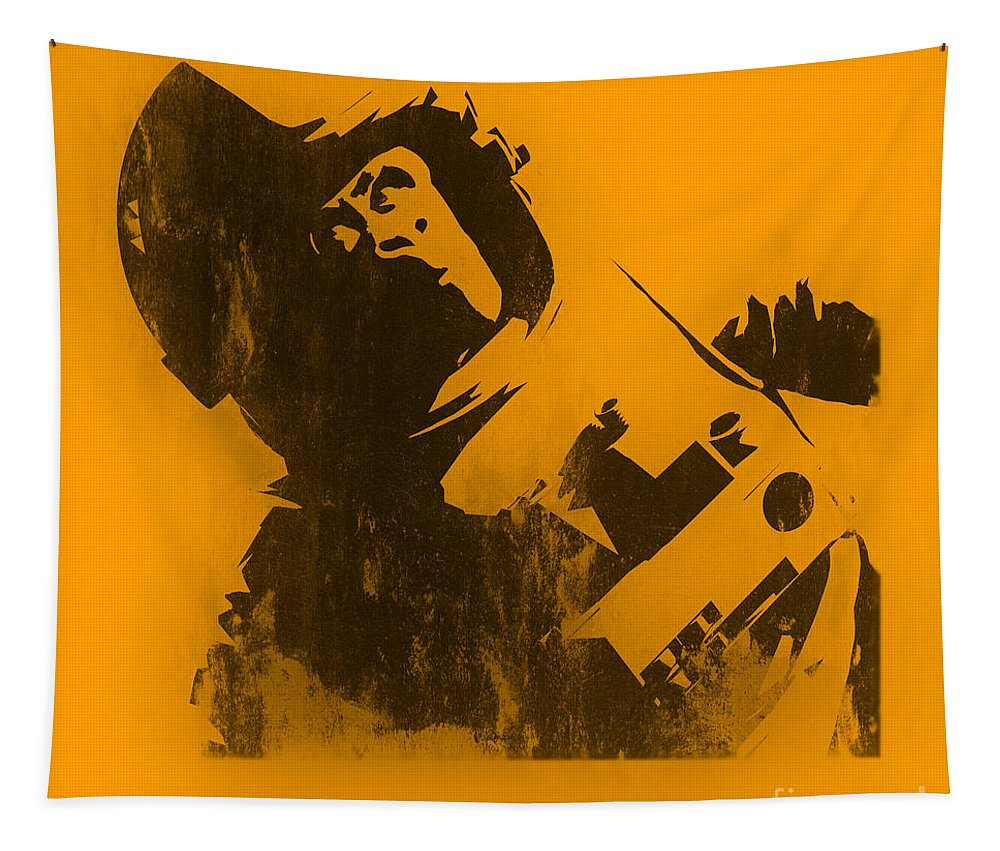 Banksy Tapestry featuring the photograph Space Ape by Pixel Chimp