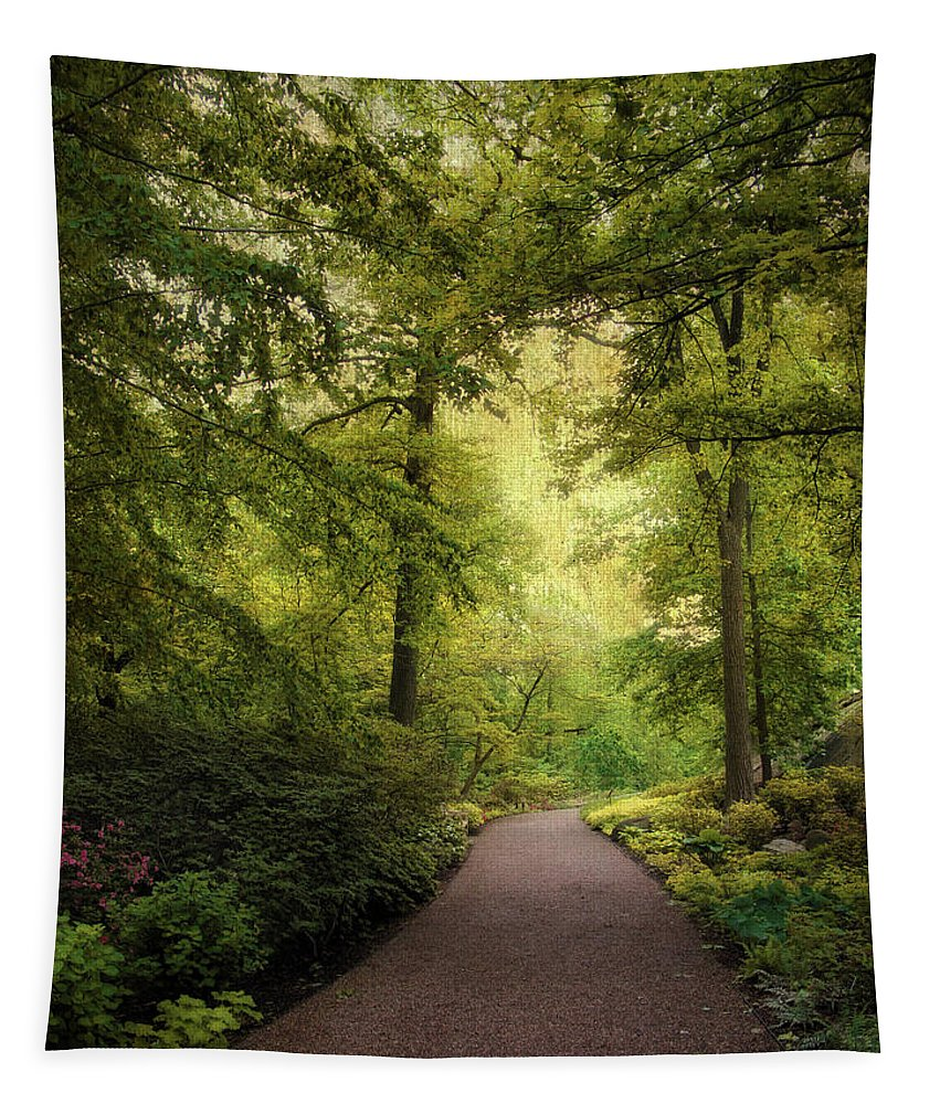 Nature Tapestry featuring the photograph Spring Path by Jessica Jenney