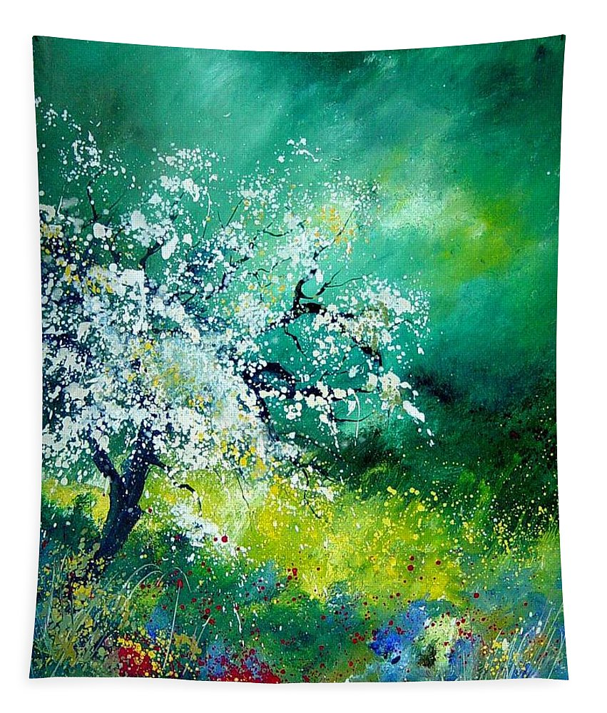 Flowers Tapestry featuring the painting Spring by Pol Ledent