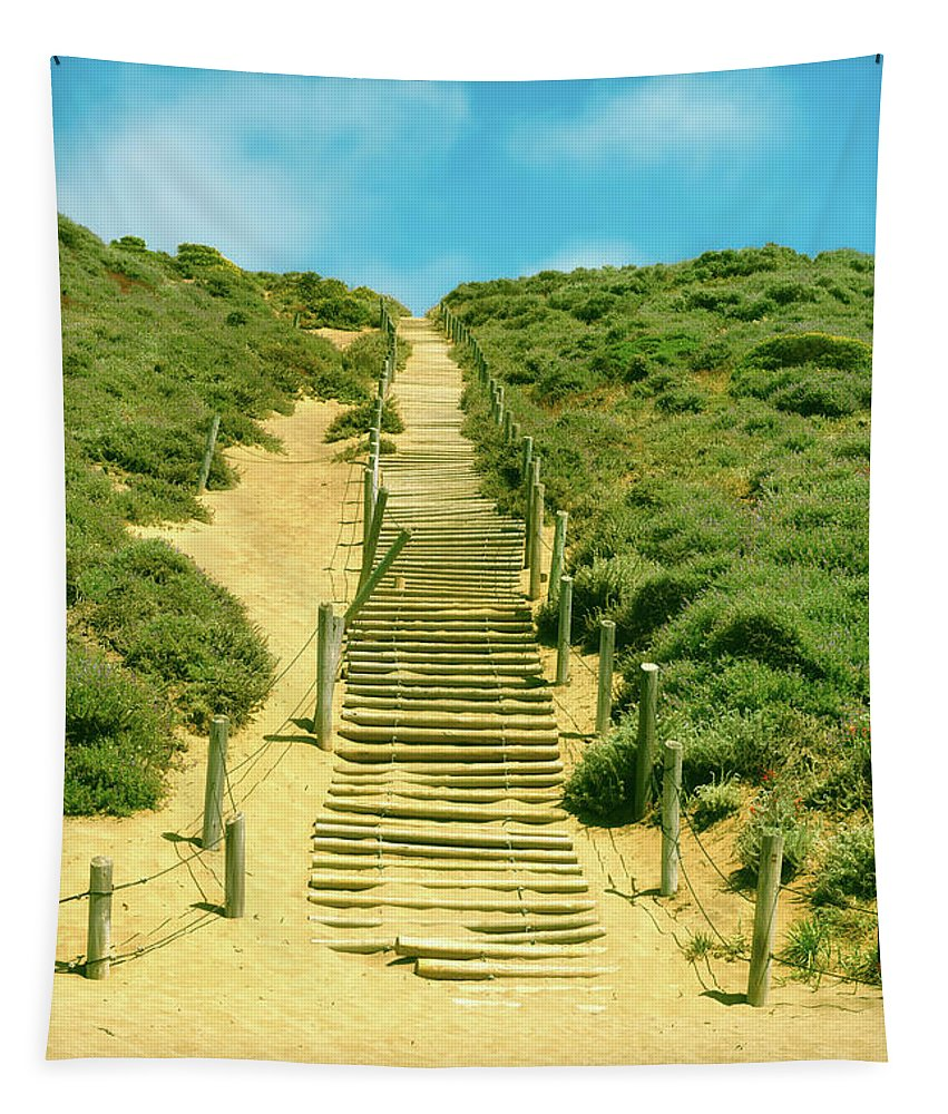 Steps Tapestry featuring the photograph Steps To The Beach by Mountain Dreams