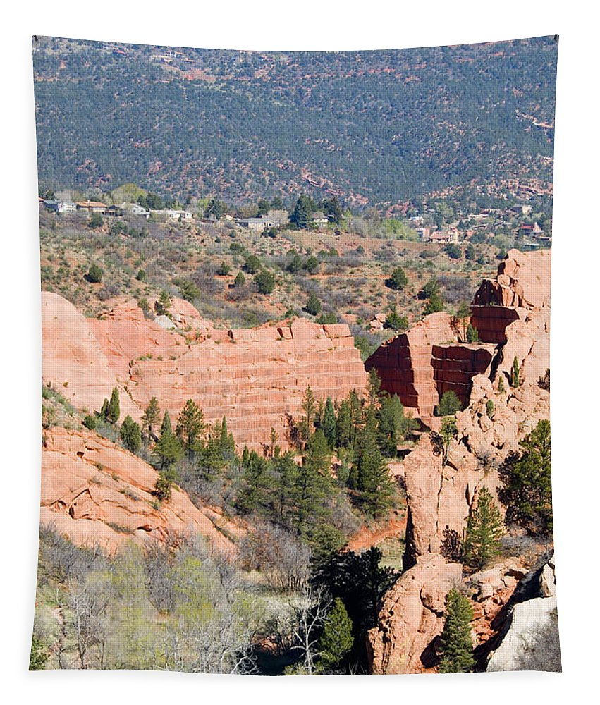 Stone Quarry Tapestry featuring the photograph Stone Quarry At Red Rock Canyon Open Space Park by Steve Krull