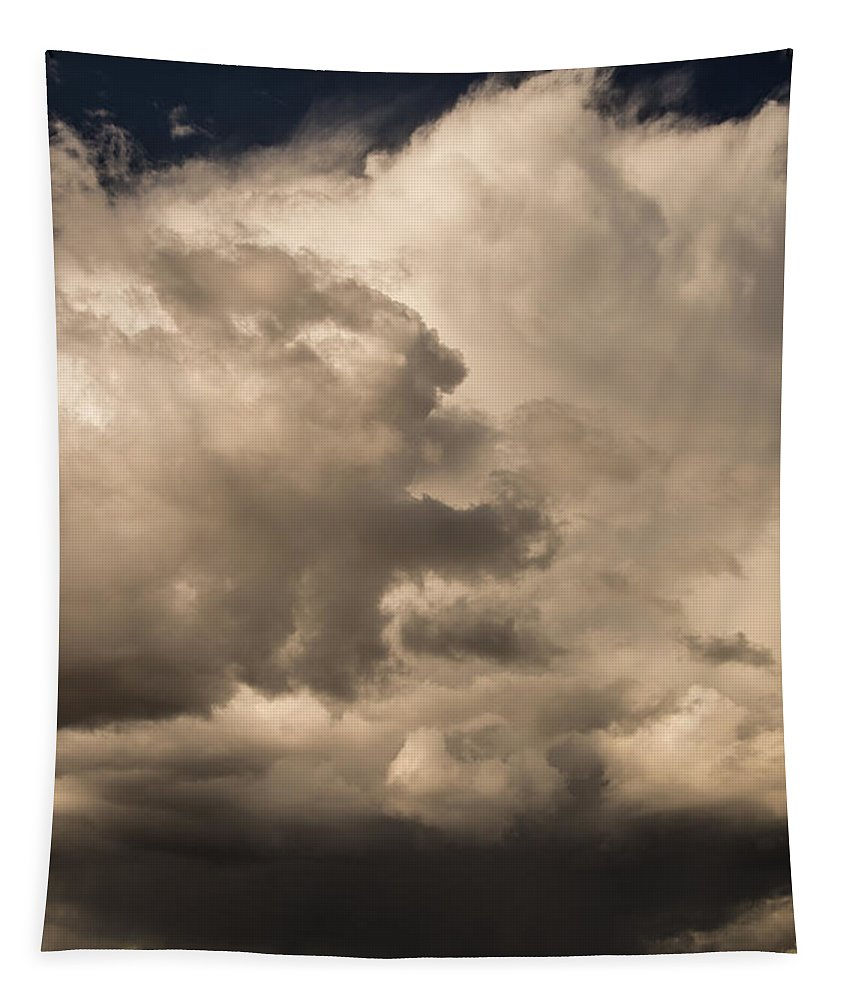 Storm Tapestry featuring the photograph Storm Over Table Rock by Mick Anderson