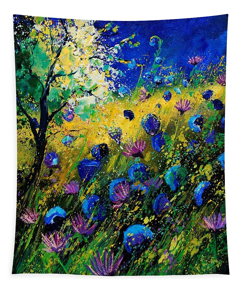 Poppies Tapestry featuring the painting Summer 450208 by Pol Ledent